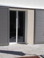 Schiebeläden Schema 1R, Modell Sun R 75, Farbe graualuminium RAL 9007
